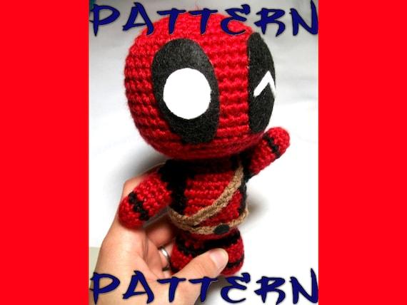 Crochet Wedding Dress Pattern Doll : Deadpool Crochet Pattern Chibi Deadpool Intermediate by ...