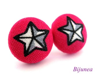 Star earrings - Pink Star studs - Star sky- Stars - Cute Star earrings - Star post earrings - Star stud earrings sf906