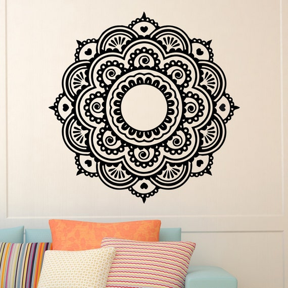 Mandala Wall Decal Vinyl Sticker Yoga Lotus Flower Namaste