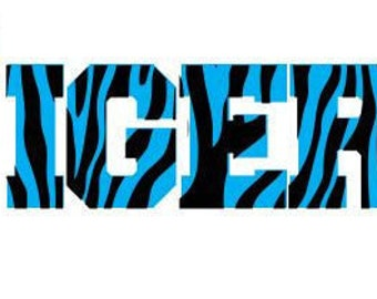 Tiger Striped SVG DXF SCAL mtc Cricut Silhouette Cutting File