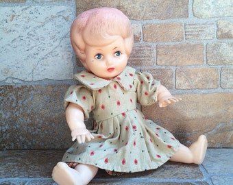 Vintage Baby Doll - collectible doll - vintage doll - Girl Doll - baby doll with moveable arms and legs - Limited edition - Doll with dress
