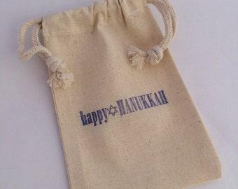 Hanukkah Gift Bag, Favor Bag: Happy Hanukkah Favor Bags, Chanukah Favor, Chanukah Favor Bag