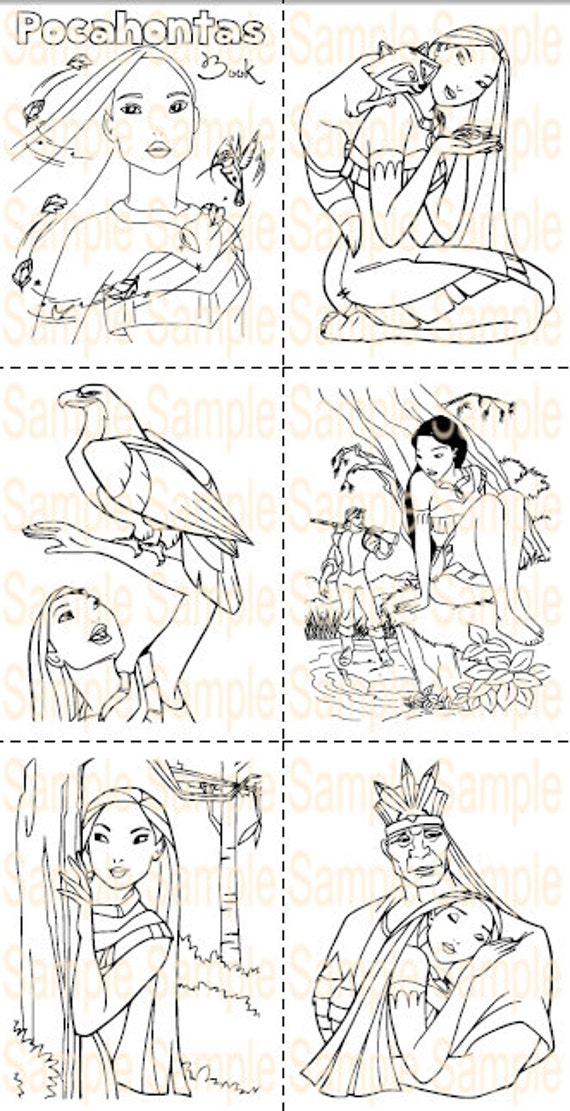 Pocahontas Party Favor Printable