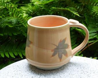 Peach porcelain mugs