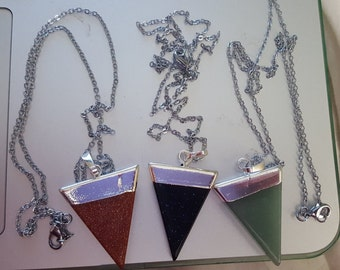 Triangle Pointed Pendant Necklace