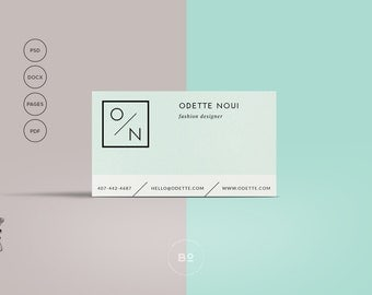 Business Card Design | Printable Business Card Template | Photographer Business Card | Modern Business Card Hipster | Instant Download