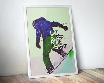 Snowboard Poster / Best Selling Items / Snowboarder / Brother Gift / Snowboarding Art / Boarding Art /  Boarding Poster