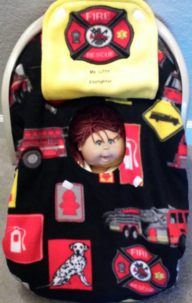 car seat baby cover fire fighter trucks by mamasgotmecovered. Black Bedroom Furniture Sets. Home Design Ideas