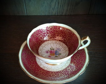 Paragon By Appointment in Burgundy Teacup