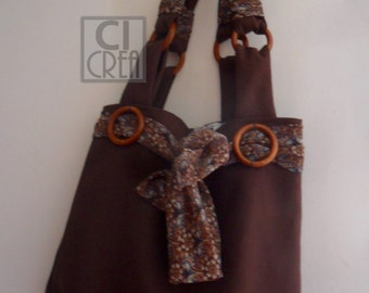 Bag in brown cotton