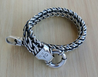 Handmade Sterling Silver Heavy Bracelet