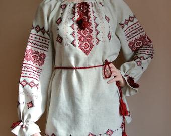 Traditional Vyshyvanka Ukrainian blouse Handmade vyshivanka Ukrainian embroidery Peasant blouse Boho clothing blouse