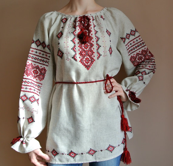 Traditional vyshyvanka ukrainian blouse handmade vyshivanka for Selling shirts on etsy