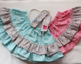 Baby/toddler skirt with matching headband