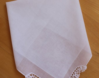 Blank Handkerchief. Embroidery Supplies. Blank Hanky for Embroidery. Wedding Hanky