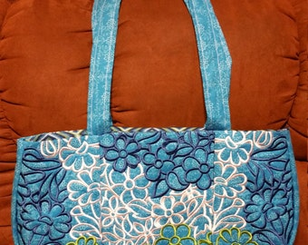 Embroidered purse/tote bag