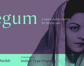 Begum Font Family