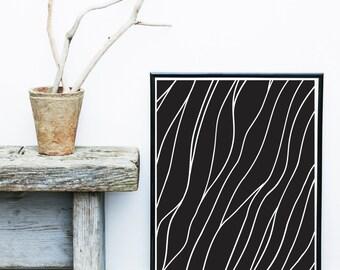 Wall Art Prints, Abstract Art, black And White Print, Instant Download, Printable Art, Black Abstract,  Wall Decor, Wall Art