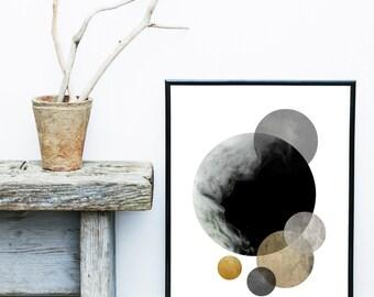 Watercolor Painting, Abstract Art Print, Printable Art, black Abstract, Black Wall art, Minimalist Art, Abstract Wall Art