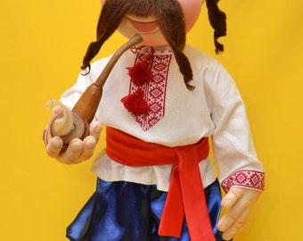 Интерьерная кукла, кукла, Ukrainian national hero - Cossack, Ukrainian souvenir, ukrainian doll, kozak. Art Dolls.