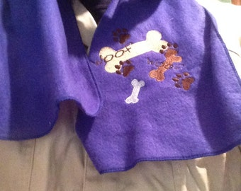 Embroidered Dog Scarf