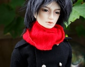 Short Black doll wig SIZE CHOICE faux fur wig BJD