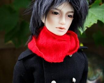 Short Black doll wig SIZE CHOICE faux fur wig BJD