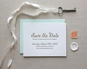 Letterpress Save the Date- Calligraphy,Traditional, Elegant, Simple, Classic, Custom, Formal, Destination