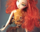 Merida Brave Doll Handpainted Makeover OOAK with Crossbow and Dragon Sidekick Iggy
