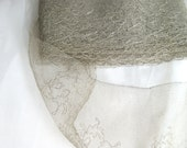 For Tamara - Wide 1920s Silver Gray Lace - Bridal quality 5 inch by the yard - Silver Metallic Threads 5.5 total yardage