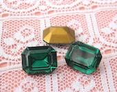 Swarovski Rhinestone 10x8 Swarovski Green Turmaline Octagon