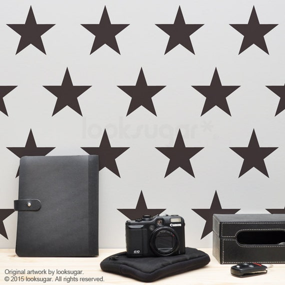 Vintage Star Wall Decor : Star wall decals large stickers