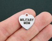 Military Stainless Steel Charm - Military Mom - Exclusive Line - Quantity Options  - BFS296