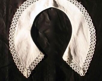 Vintage French White Pique Collar