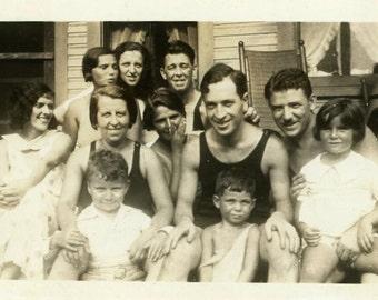 "Vintage Photo ""Family and Friends"" Snapshot Photo Old Antique Photo Black & White Photograph Found Photo Paper Ephemera Vernacular - 177"