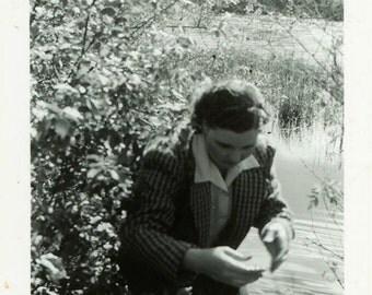 """Vintage Photo """"The Swamp Fugitive"""" Snapshot Photo Old Antique Photo Black & White Photograph Found Photo Paper Ephemera Vernacular - 183"""