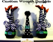 Whimsical Witch Legs Decor (set of two)