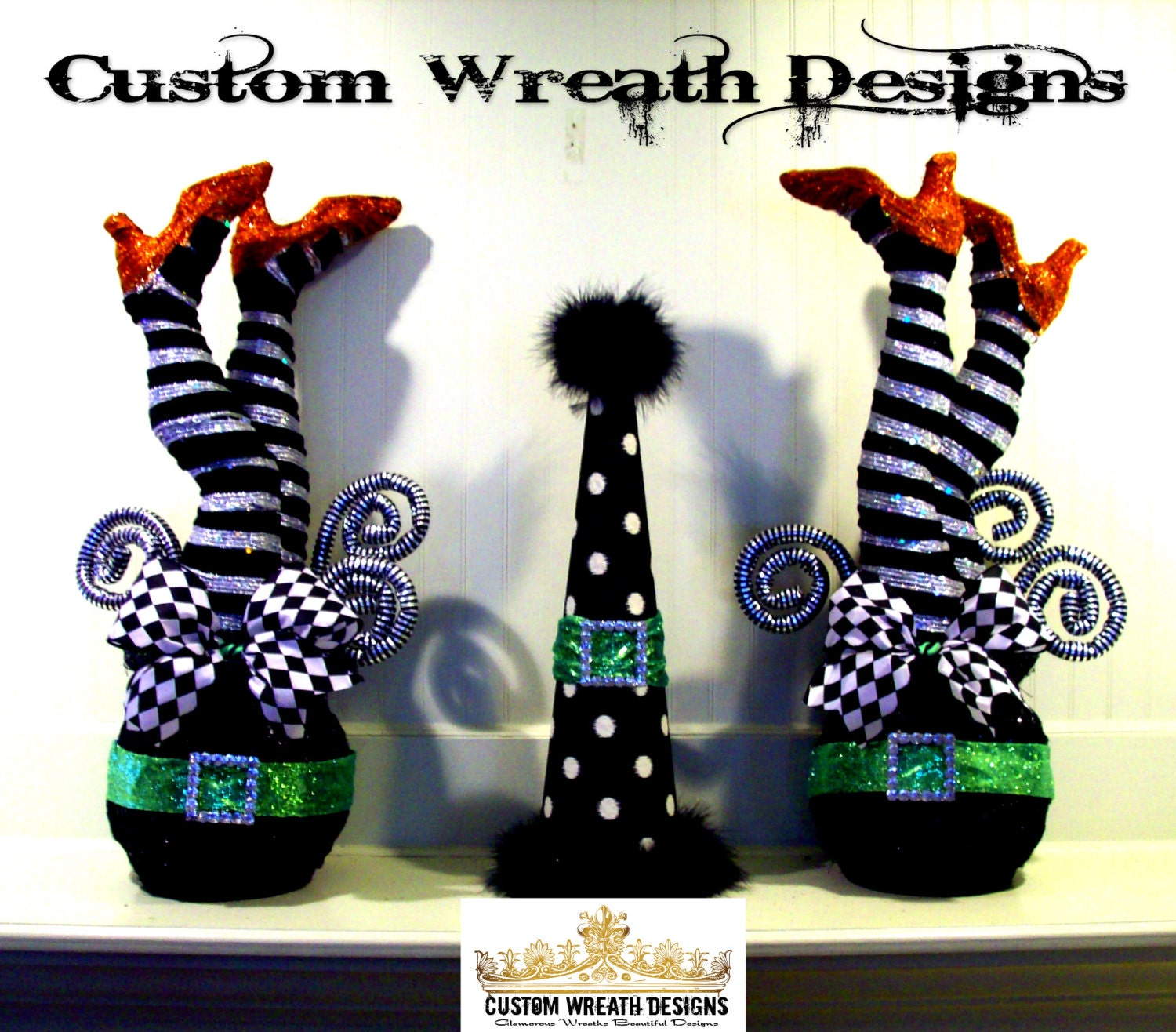 Whimsical witch legs decor set of two for Whimsical decor