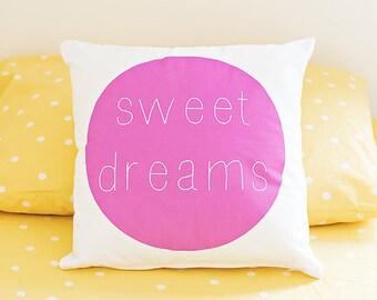 Sweet Dreams Pillow Cover, Modern Kids Pillow, Kids Decor