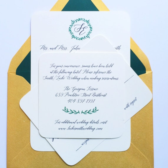 Items Similar To Traditional Wedding Invitation