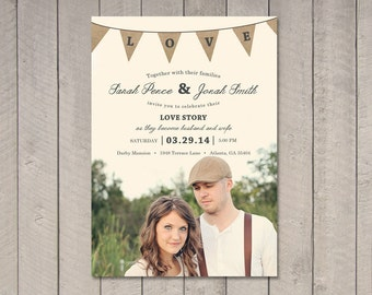 Wedding Invitation (Printable) DIY by Vintage Sweet