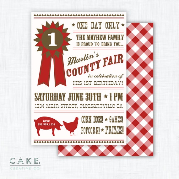 County Fair Party Invitation Printable