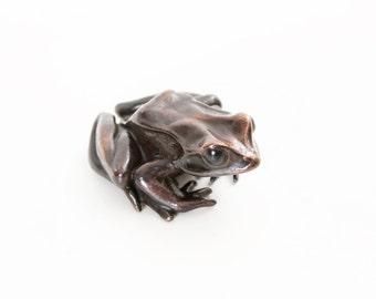 European common frog - Bronze (small)