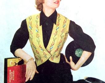 1950s VINYL RECORD GIRL Print Ideal for Framing
