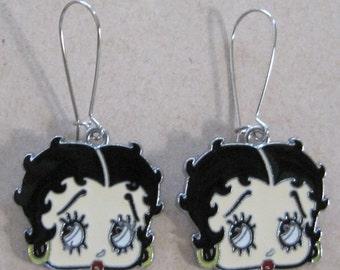 Pop culture Hollywood classic cartoon retro comics Betty Boop charm dangle Earrings