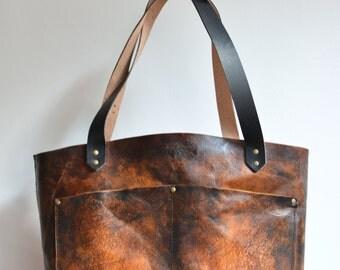 Tote bag shoulder bag leather Patina Dream Ada