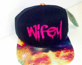 Wifey Galaxy Snapback Cosmic Stars Colors Multicolor Snap Back