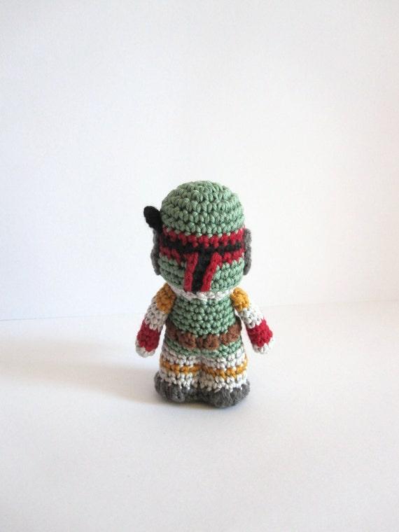 Amigurumi Free Pattern Dinosaur : Boba Fett inspired amigurumi. Star Wars Softie.
