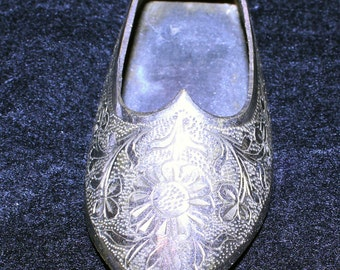 Vintage Brass Shoe Ashtray