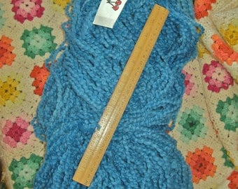 SALE Hand-painted Rug Wool yarn by Cherry Tree Hill, in BLUE